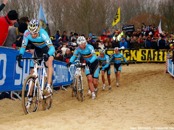 Rob Peeters leads the all-Belgian pack at 2012 Worlds. © Jonas Bruffaerts