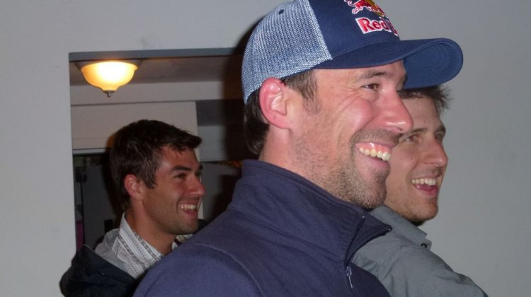 Tim Johnson couldn't stop smiling at the kickoff party for the Ride on Washington. © Cyclocross Magazine