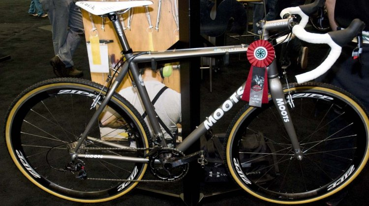 The Moots PsychloX RSL along with the entry from Six Eleven Bicycle Co. shared this year's best cyclocros bike award. © Kevin White