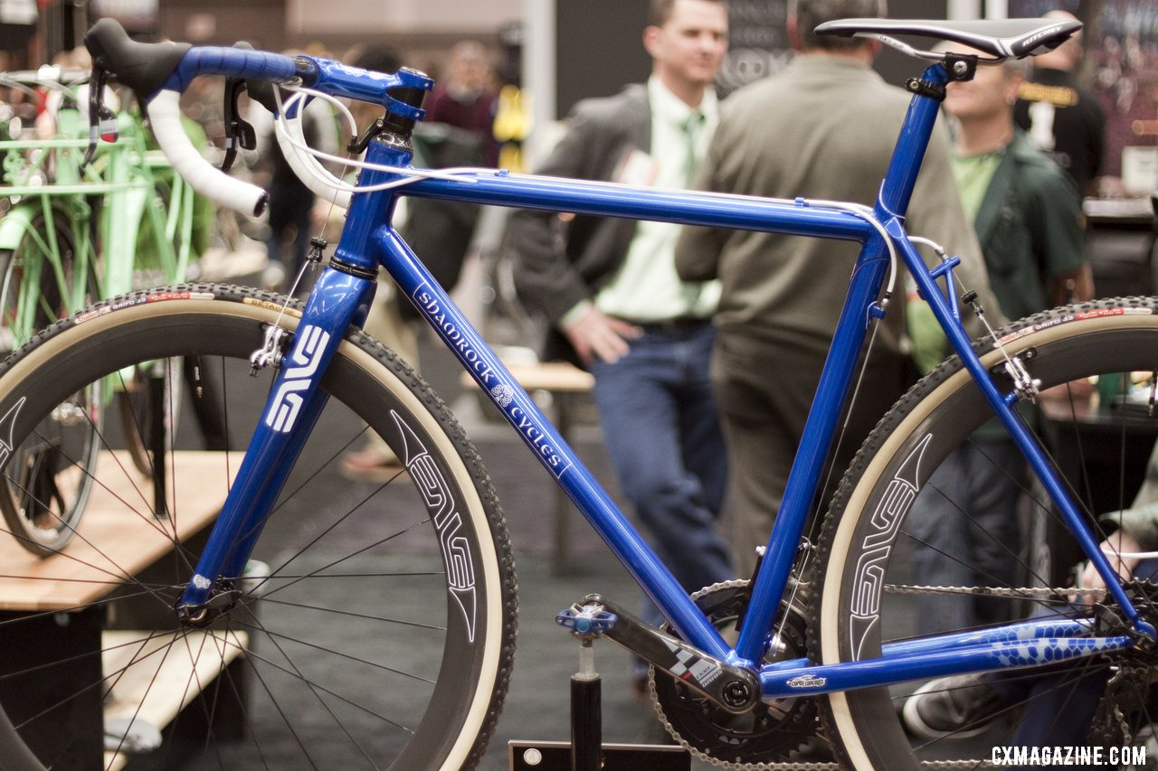 tim odonnell of shamrock cycles brought this blue steel creation as his entry to