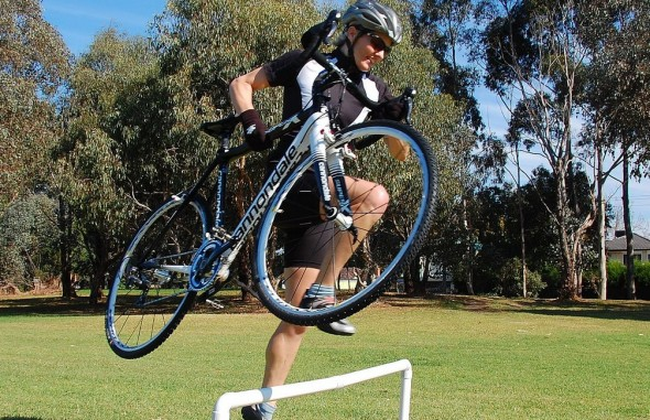 Getting ready to compete in Australia's Cyclocross National Championships. © Andrew Blake