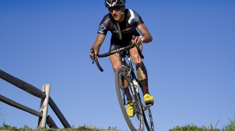 Ben Berden in control and on his way to the win at the 2012 Sea Otter Classic cyclocross race. ©Tim Westmore