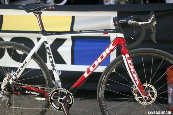 Look's new carbon disc brake-only X-85 cyclocross frameset is in production. As shown at Sea Otter 2012. ©Cyclocross Magazine