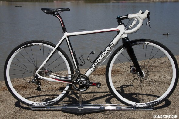 Kari Studley's disc-equipped Redline 2012 Conquest Team bike. Sea Otter 2012. ©Cyclocross Magazine