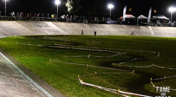 A look at the course at night. Andy Rogers