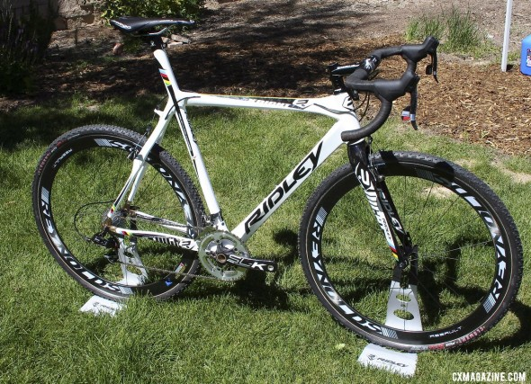 The 2013 Ridley X-Night top-of-the-line carbon cyclocross bike with an integrated seatmast. ©Cyclocross Magazine