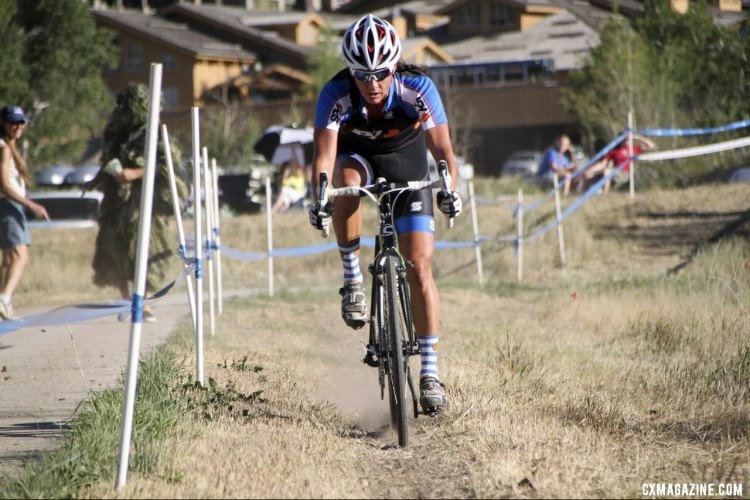 Duke in control at the 2012 Raleigh Midsummer Night Cyclocross Race. @Cyclocross Magazine