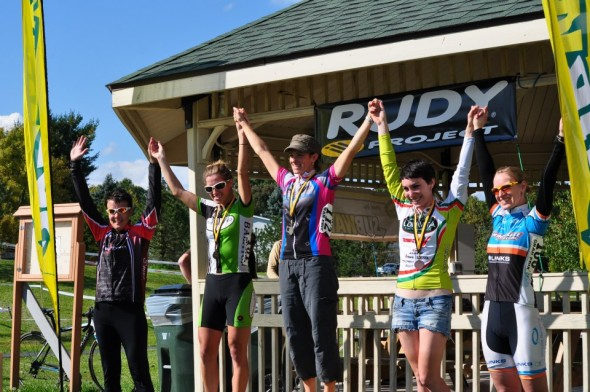 My first podium of the season in Ohio. Courtesy of Stark Velo