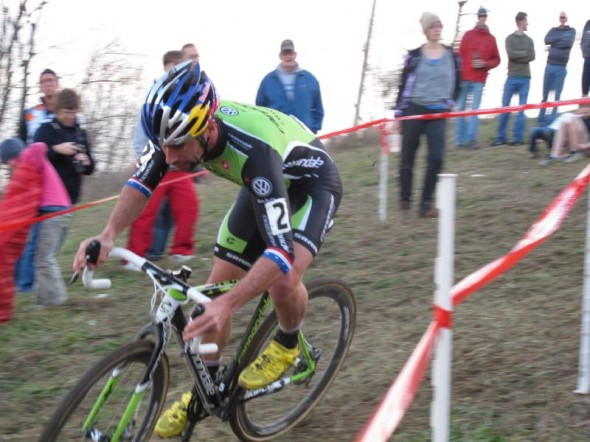 Johnson took a second win on Day 3 of Jingle Cross. © Elisabeth Reinkordt