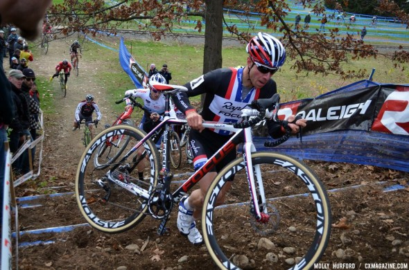 Jeremy Powers, here on Day 1, doubled up this weekend at Cycle-Smart International. © Cyclocross Magazine