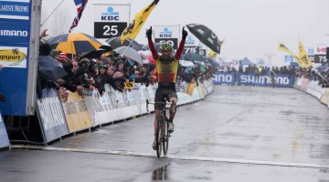 Sven Nys, shown here at Koksijde, took another impressive win © Bart Hazen