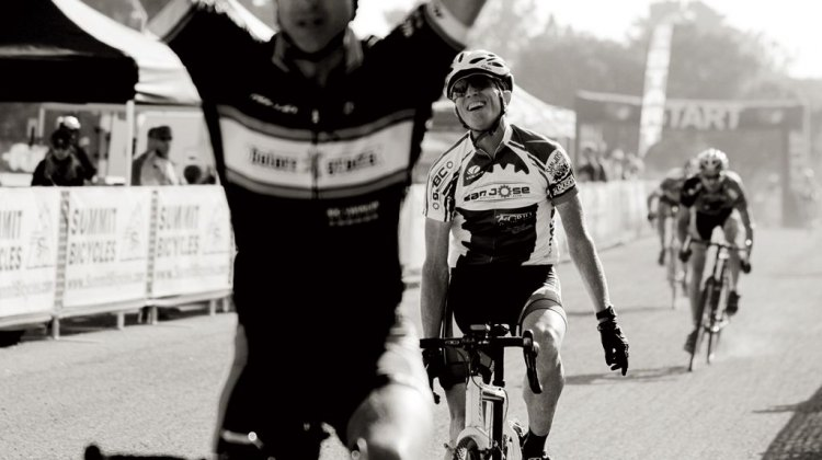 "The triumph of winning, and the ""heartbreak"" of defeat. © Vantage Velo"