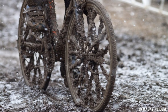 Racers faced power-sucking conditions today © Cyclocross Magazine