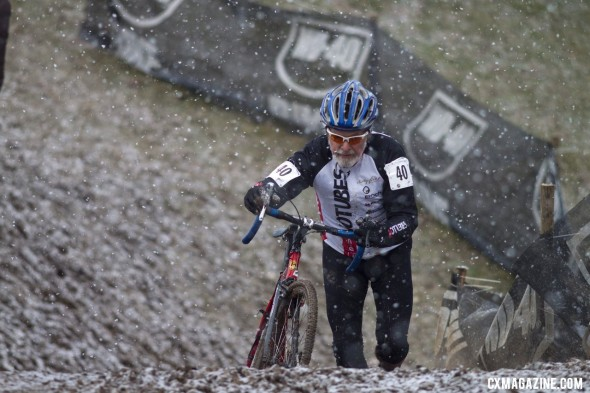 Multi-time National Champion Walt Axthelm was one of the riders pulled early © Cyclocross Magazine