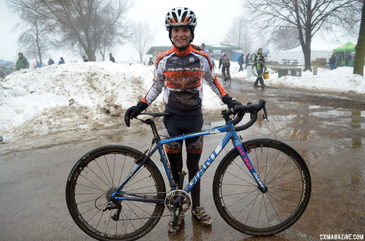 Katie Clouse won her first Cyclocross National Championship in Wisconsin in 2013. 2013 Junior 10-12 National Championships © Cyclocross Magazine