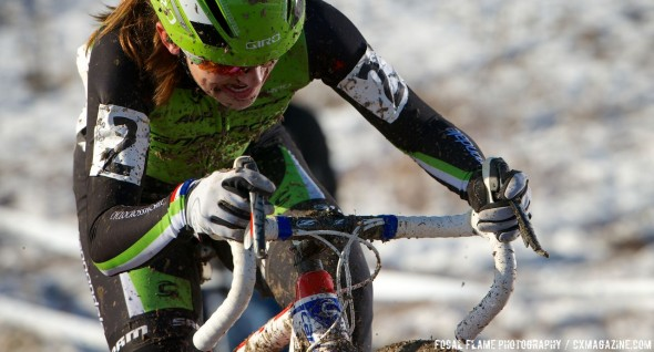 Kaitlin Antonneau had a strong early race, but a crash dropped her out of contention © Focal Flame Photography