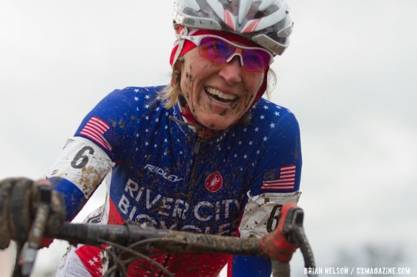 Sue Butler set the bar for tough racing, on her way to the 2013 Masters World Championships title. ©Brian Nelson