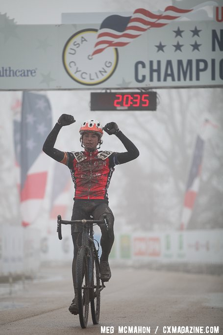 Denzel Stephenson cruised to a 1:20 gap to win the 13-14 title going away. © Meg McMahon