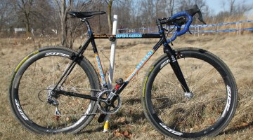 Kathy Sarvary's Spin Arts custom steel, built by Tom Stevens © Cyclocross Magazine
