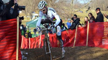 Niels Albert took an early lead and never looked back at Kings CX. © Cyclocross Magazine
