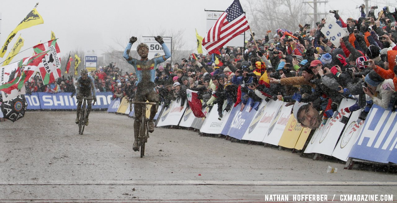The 2013 Louisville World Championships were a special event for U.S. cyclocross © Nathan Hofferber