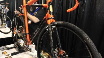 Ventus Custom Cycles displayed this steel lugged, carbon tubed gravel racer at NAHBS 2013 © Jesse Pisel