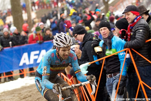 Defending Champion Niels Albert, perhaps due to the date change, did not have the legs to contest the podium today © Cathy Fegan-Kim