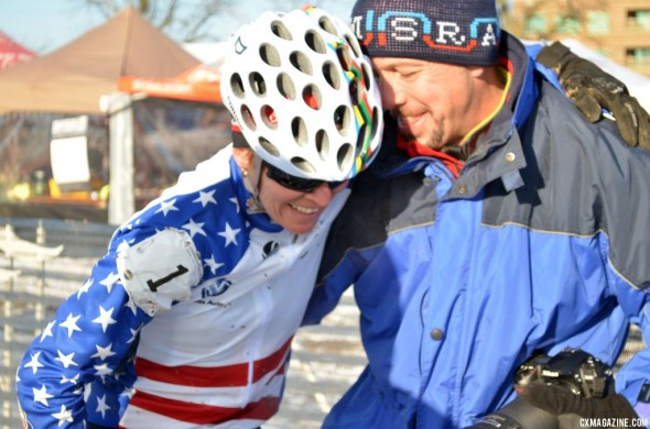 Kathy Sarvary was exhausted after a dramatic race finish. © Cyclocross Magazine