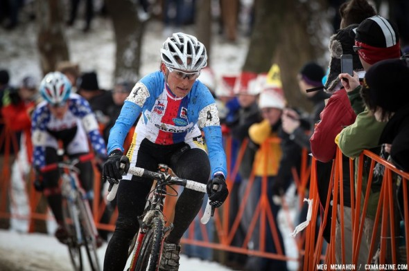 Nash had a great ride but a late mechanical cost her 3rd in the Elite Women World Championships of Cyclocross 2013 © Meg McMahon
