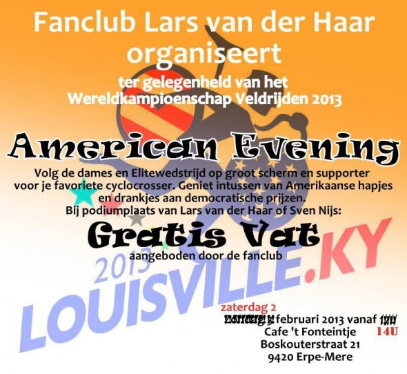 A Lars van der Haar supporter tv party - with a new date.
