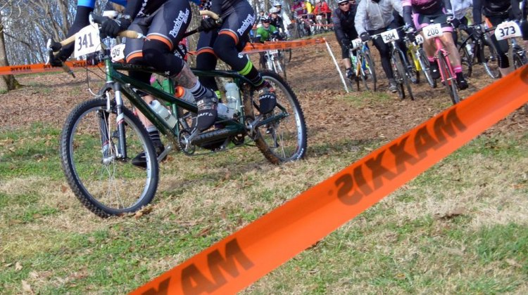 The tandem couple did finish Southern Cross – albeit slower than Brian Toone. © Cyclocross Magazine
