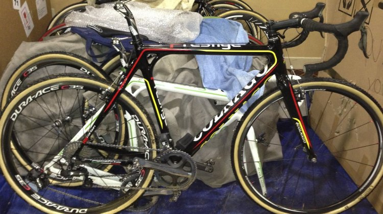 2013 World Championship-winning Sven Nys' Colnago Cross Prestige. © Cyclocross Magazine