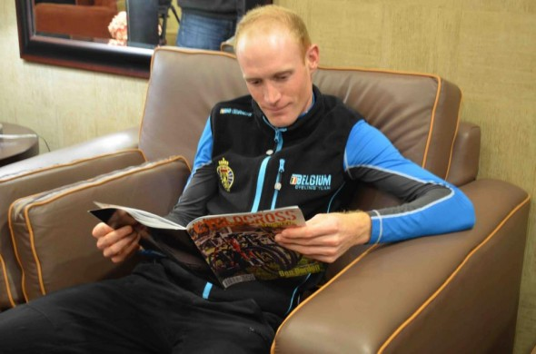 Klaas Vantornout reads Cyclocross Magazine. Do you? © Cyclocross Magazine
