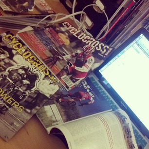 This desk could be your life: apply for an internship with Cyclocross Magazine today!