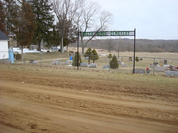 Brush Ridge Cemetery, where Gary collapsed. © Geoffrey Bernard