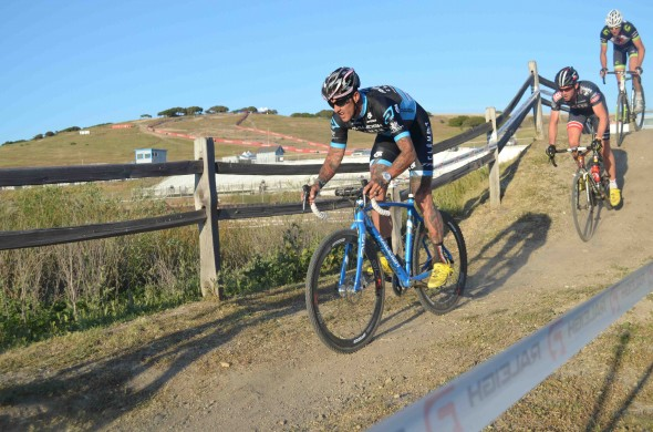 Ben Berden took the lead and the win at the Sea Otter Classic cyclocross race. © Cyclocross Magazine