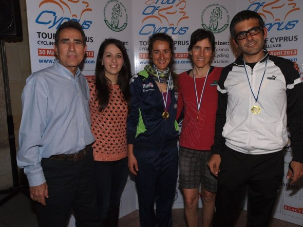 Stage 1 team awards at the Tour of Cyprus © Hesham Sweed