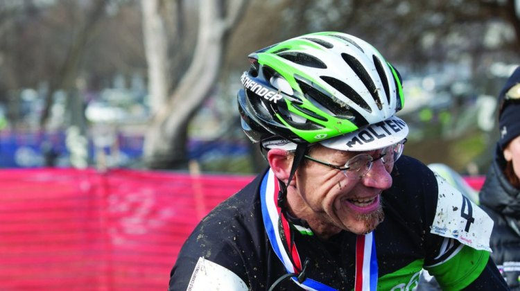 Gunnar Shogren was all smiles post-Worlds, even if the race didn't go quite the way he wanted. © Brian Nelson