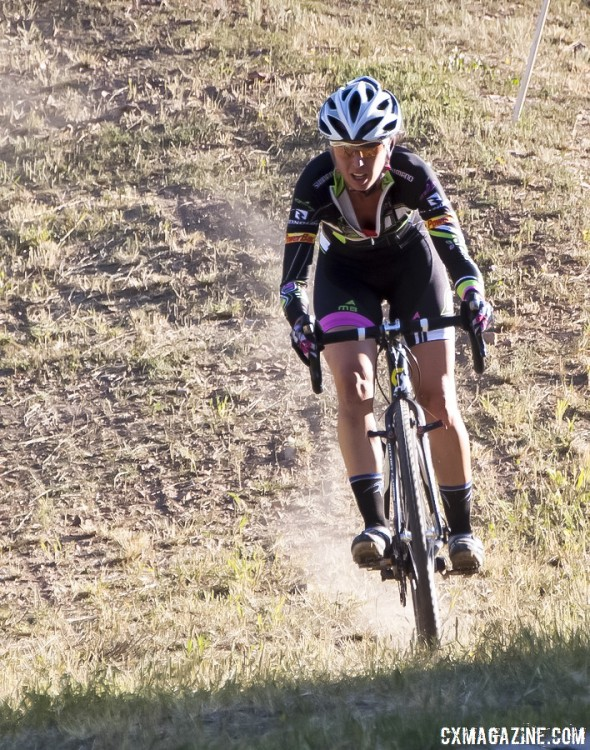 Rebecca Gross drove from Colorado to try to win the Raleigh prize, and she met her goal. © Cyclocross Magazine