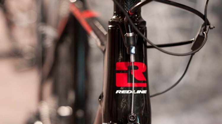 The 2014 Redline Conquest Team carbon cyclocross bike, with Ultegra Di2 10-speed, and cantilever brakes! © Cyclocross Magazine