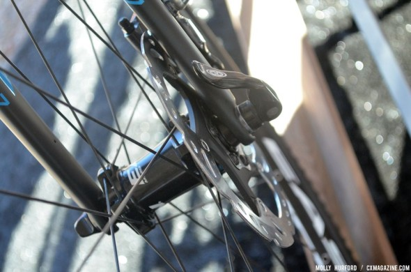 The new TRP HyRd disc brakes keep the Cortina stopping smooth. © Cyclocross Magazine