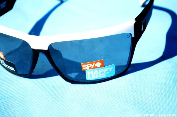 Spy showcased three new shades at Outdoor Demo, including one designed to make you happy. © Cyclocross Magazine