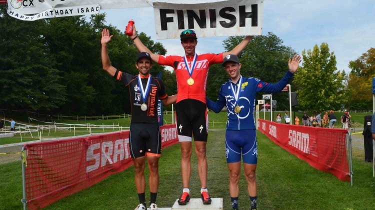 Wells took the win day 1 at Nittany. © Cyclocross Magazine