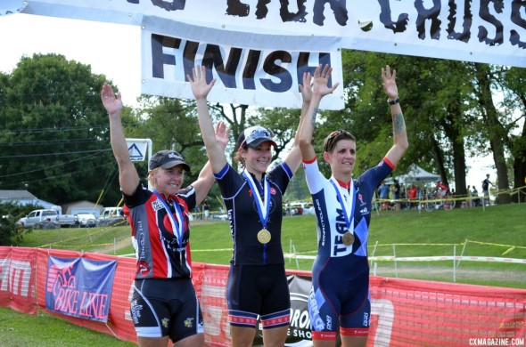 Kemmerer topping the podium at Nittany on Day 2. © Cyclocross Magazine