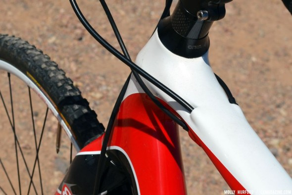 Neat internal cable routing. © Cyclocross Magazine