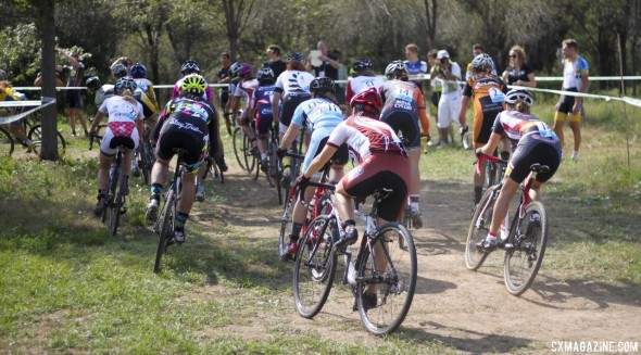 The start of the women's race - Qiansen Trophy UCI C2 Cyclocross Event. © Cyclocross Magazine