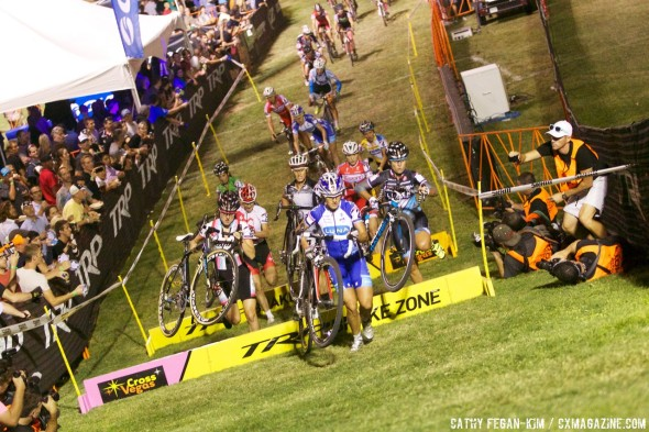 Katerina Nash (Luna Chix) leads CrossVegas early and late. © Cathy Fegan-Kim, Cyclocross Magazine