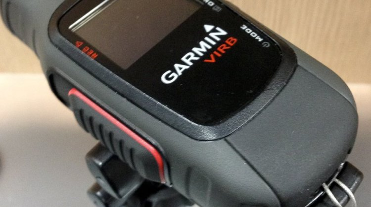 Garmin's new VIRB POV video camera is a bit bulky but offers many features and connectivity. © Daniel Curtin / Cyclocross Magazine