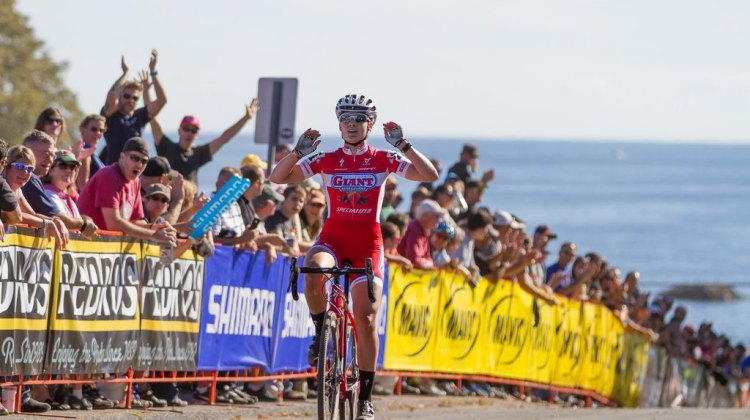 Anderson takes the win day 2 of Gloucester. © Todd Prekaski