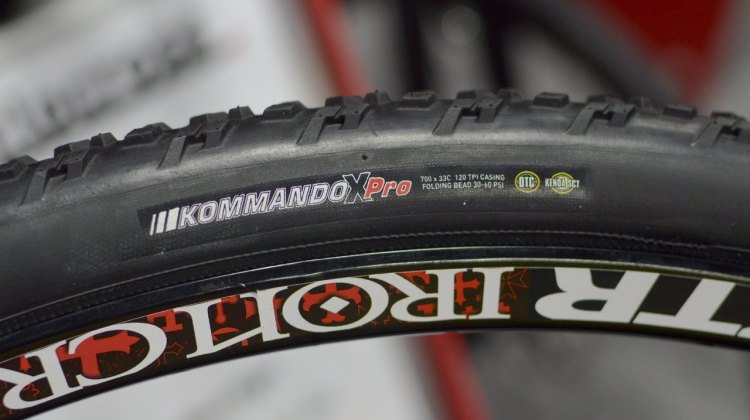 Kenda's new Kommando X Pro tubeless-ready cyclocross tire. © Cyclocross Magazine